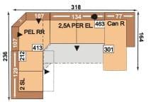 Polipol Polstermöbel Linares-Joella 2SL-PELRR-2,5APEREL-CANR