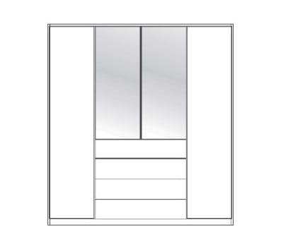 Wiemann Schlafzimmer Valencia Funktionsschränke Holz- und Kristallspiegeltüren